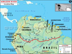 AEC Becomes More Active In The Amazon River Brazil - Amazon river map